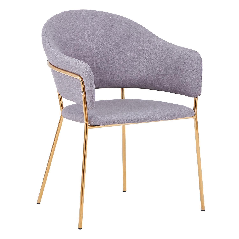 Set van 2 stoelen / fauteuils Ulrick Grijze stof
