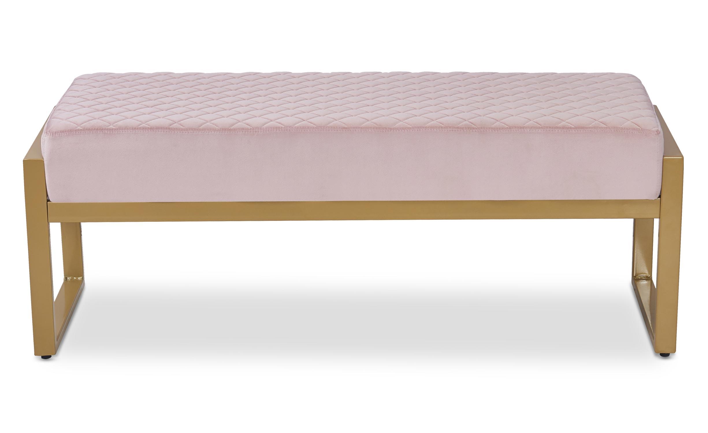 Madison bank roze fluwelen gouden voeten