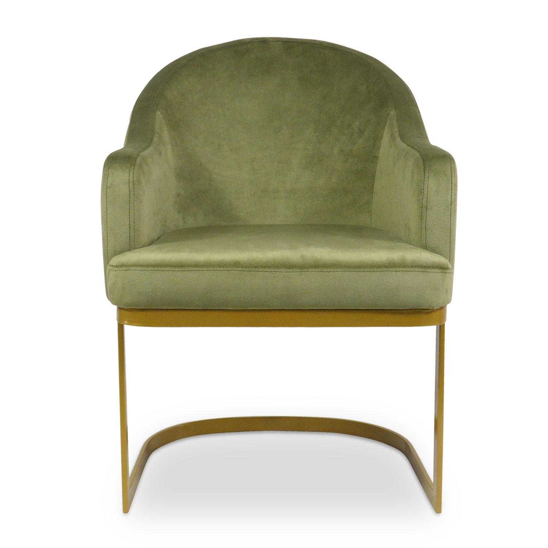Stoel / fauteuil Everest Khaki Velvet
