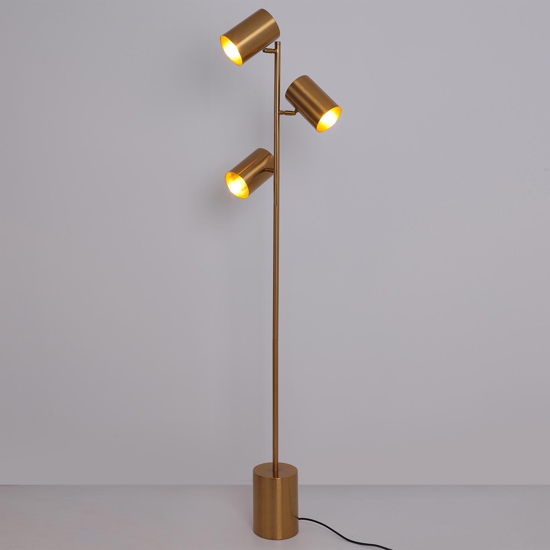 Trianon Vloerlamp Geborsteld Goud Metaal