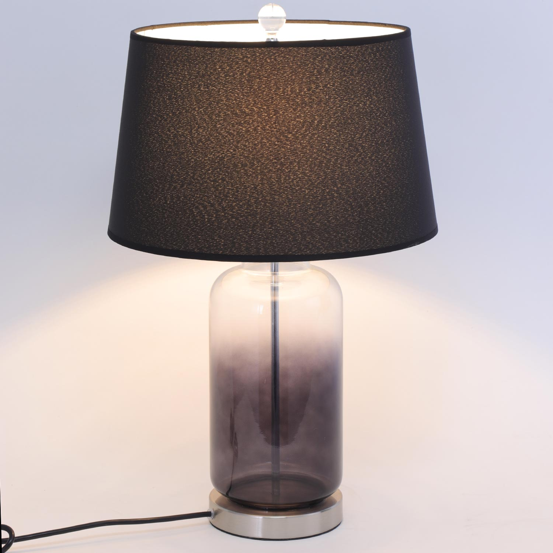 Belgrado tafellamp zwart glas