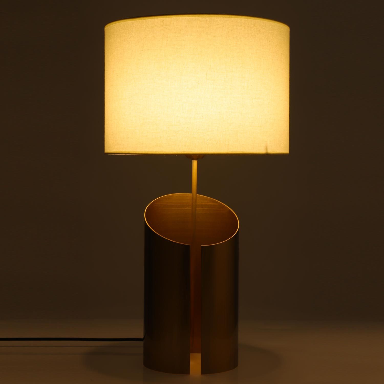 Gaia Tafellamp Wit en Koper