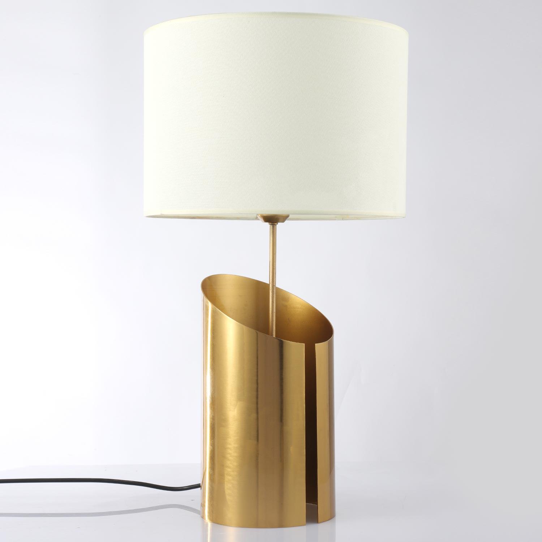 Lampe de table Gaia Blanc et Or