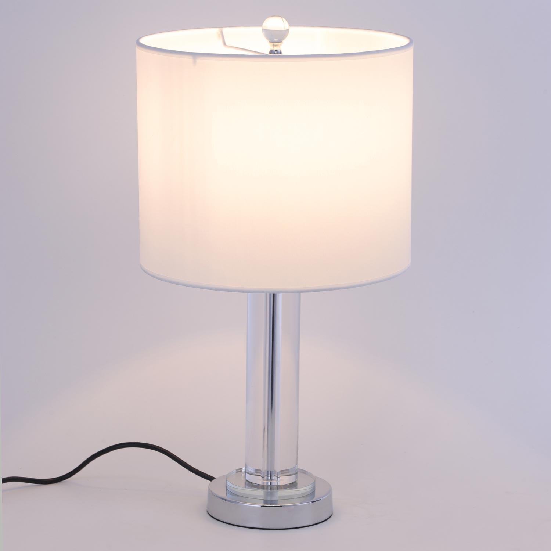 Giulia Tafellamp Wit en Transparant Glas