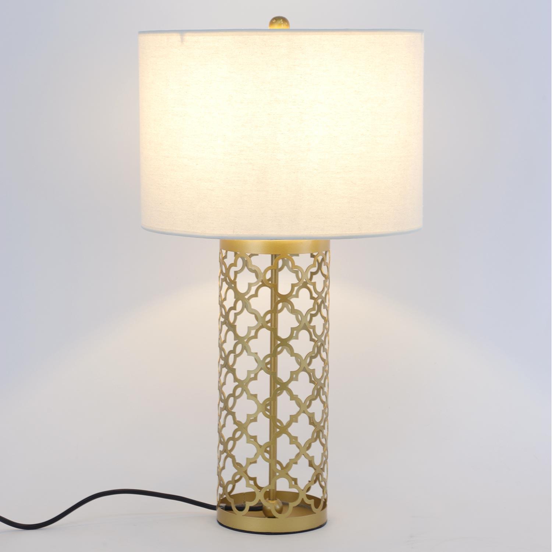 Tunis metalen gouden tafellamp