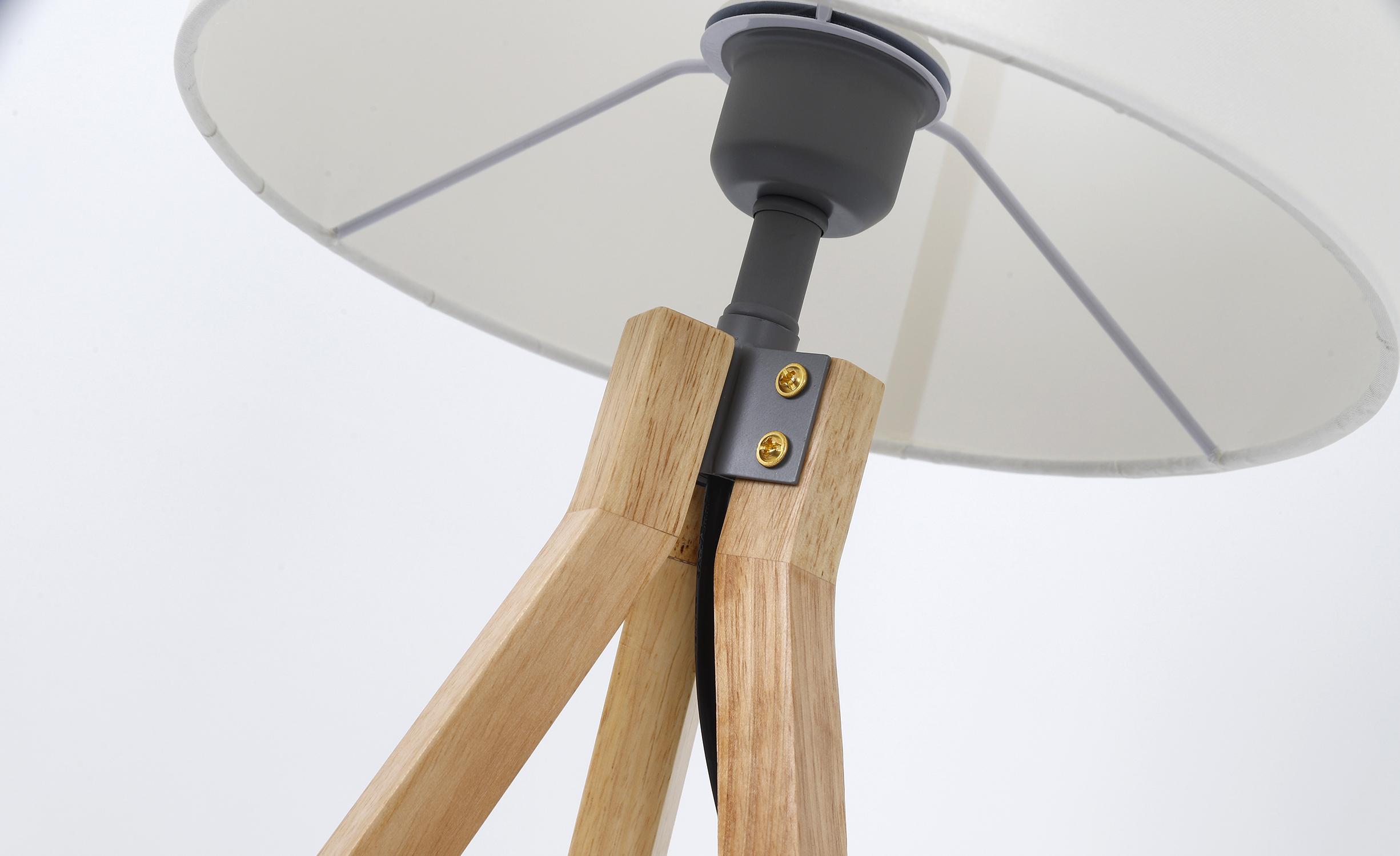 Wanda tafellamp in hout en wit