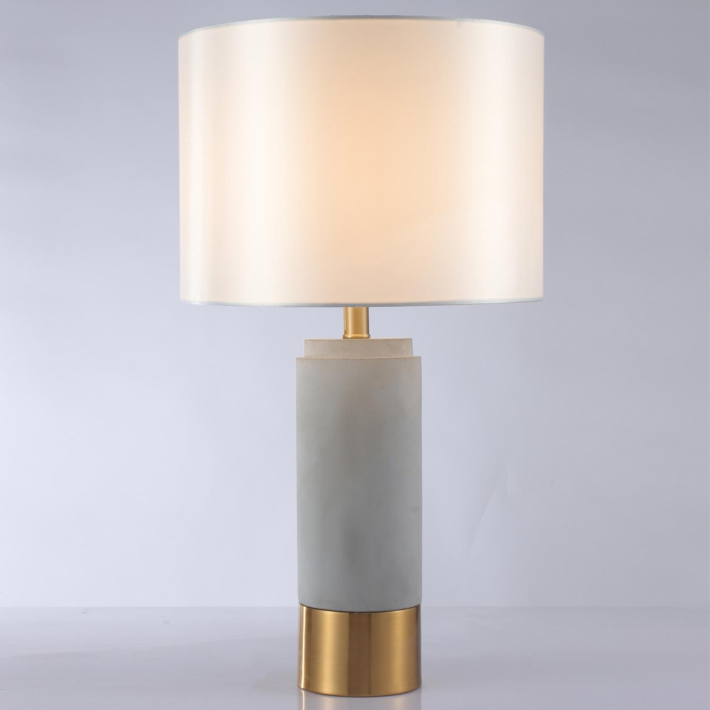 Zippy tafellamp grijs beton en goud metaal