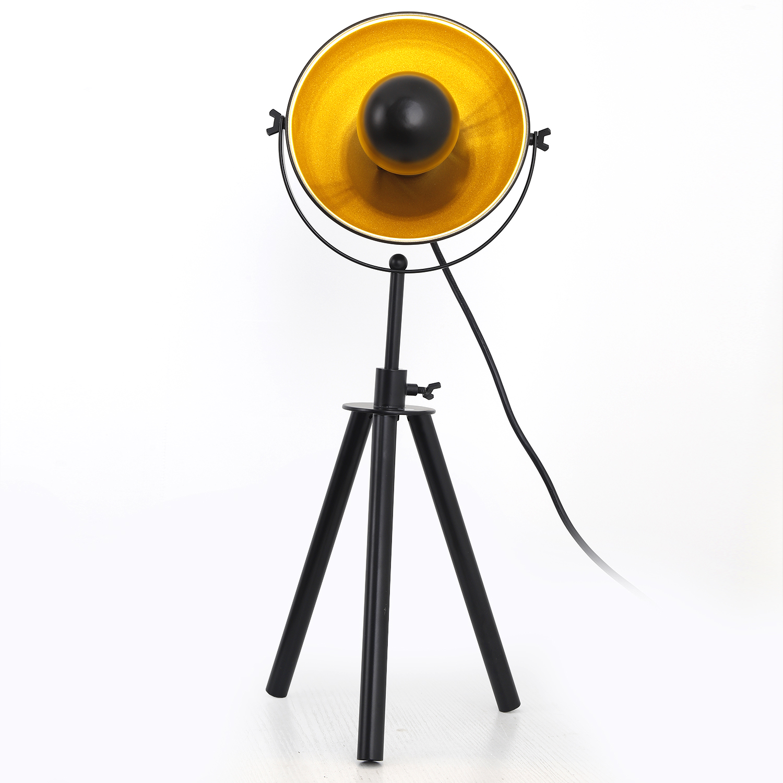 Loxias tafellamp in zwart en goud