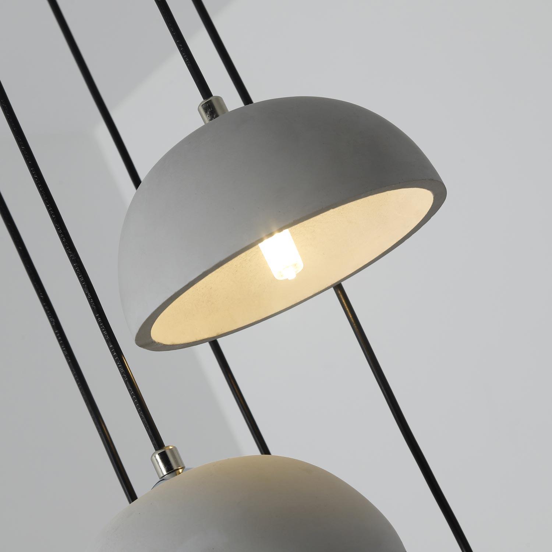 Betoni XL grijze betonnen hanglamp