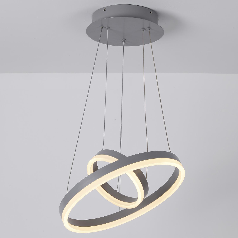 Polux LED hanglamp grijs metaal