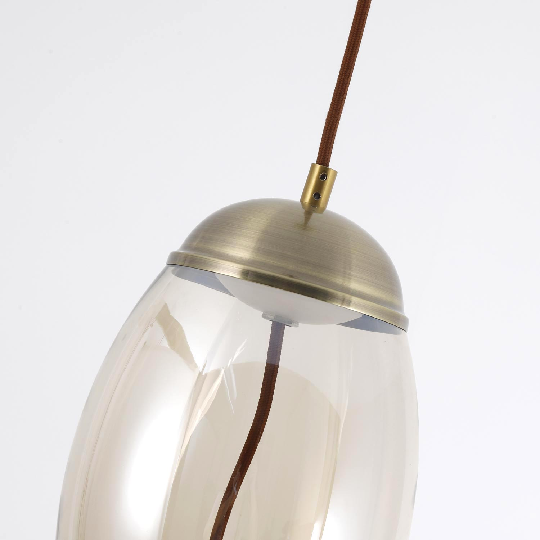Led hanglamp Odalia Transparant rookglas