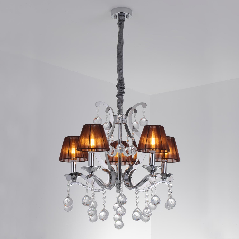 Ritchie hanglamp bruin en zilver metaal