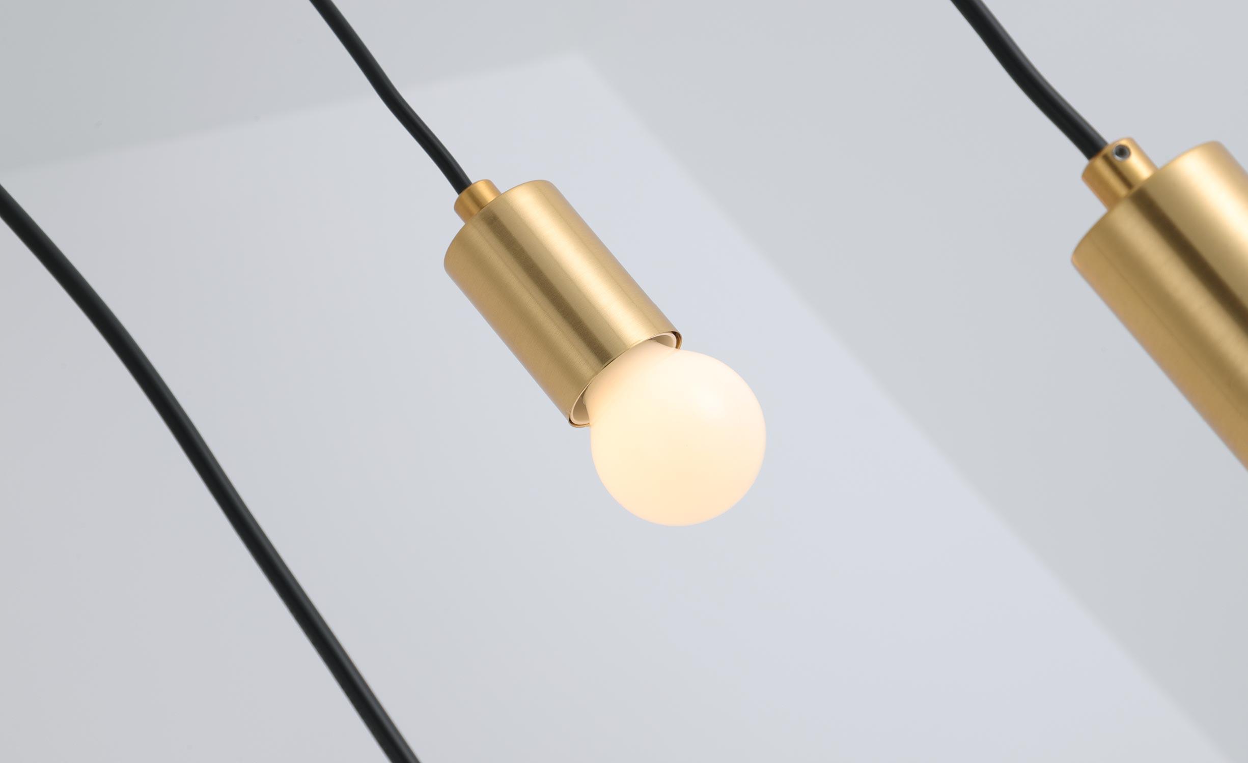 Hanglamp Triplado Metaal Goud