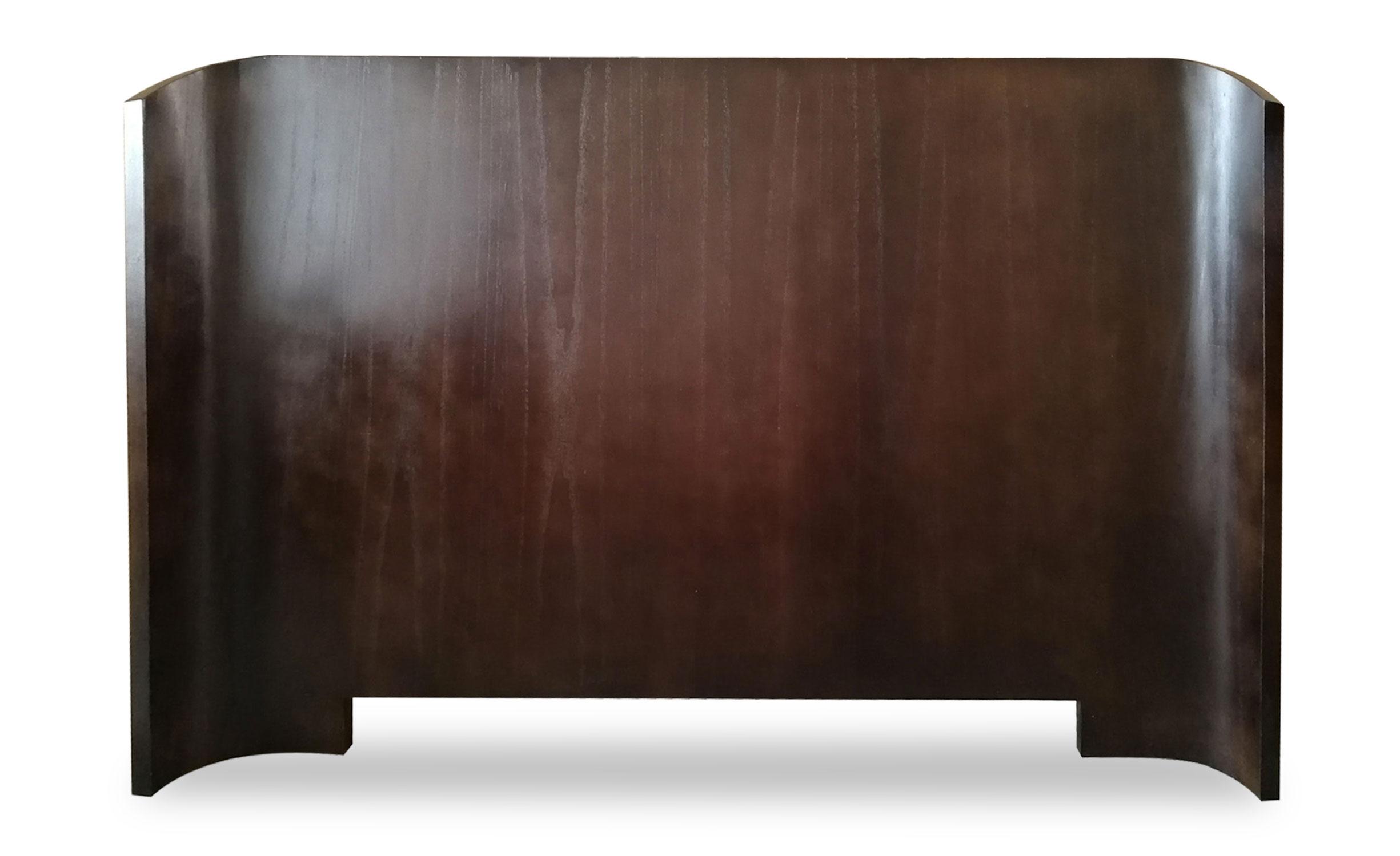 Mahuva hoofdeinde 160 cm Donker hout