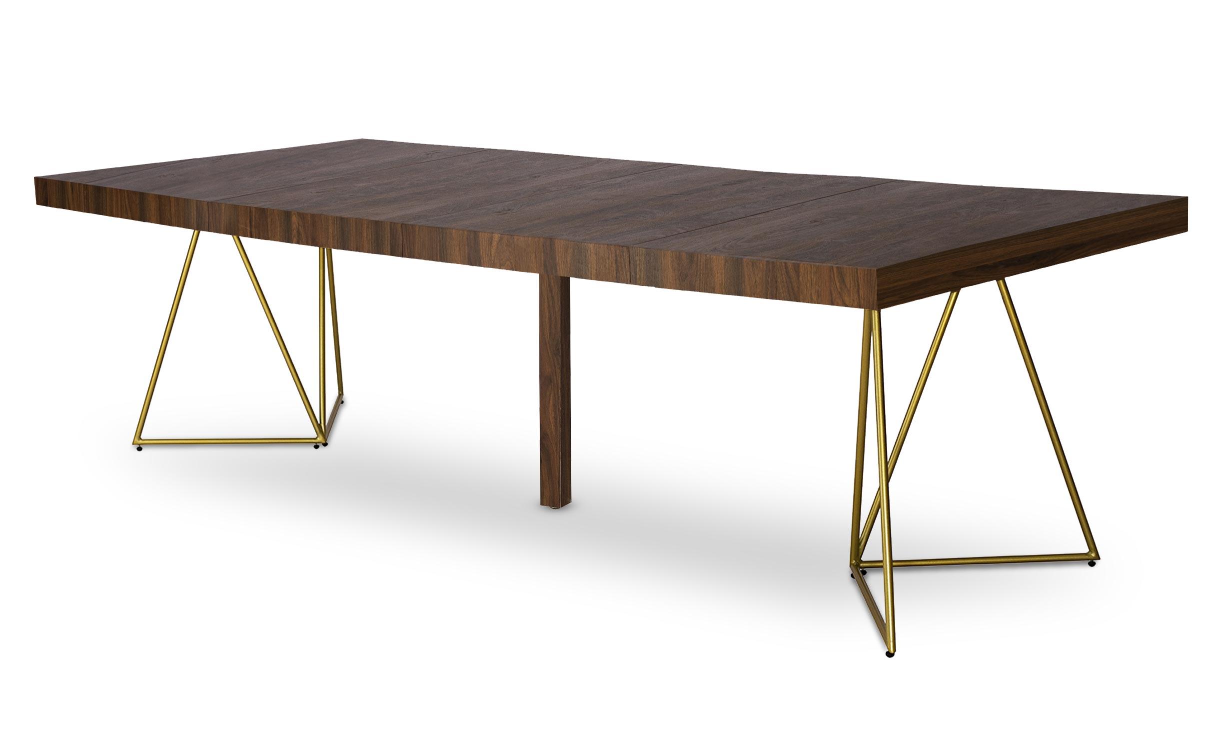 Uitschuifbare tafel Neila hazelnotenhout
