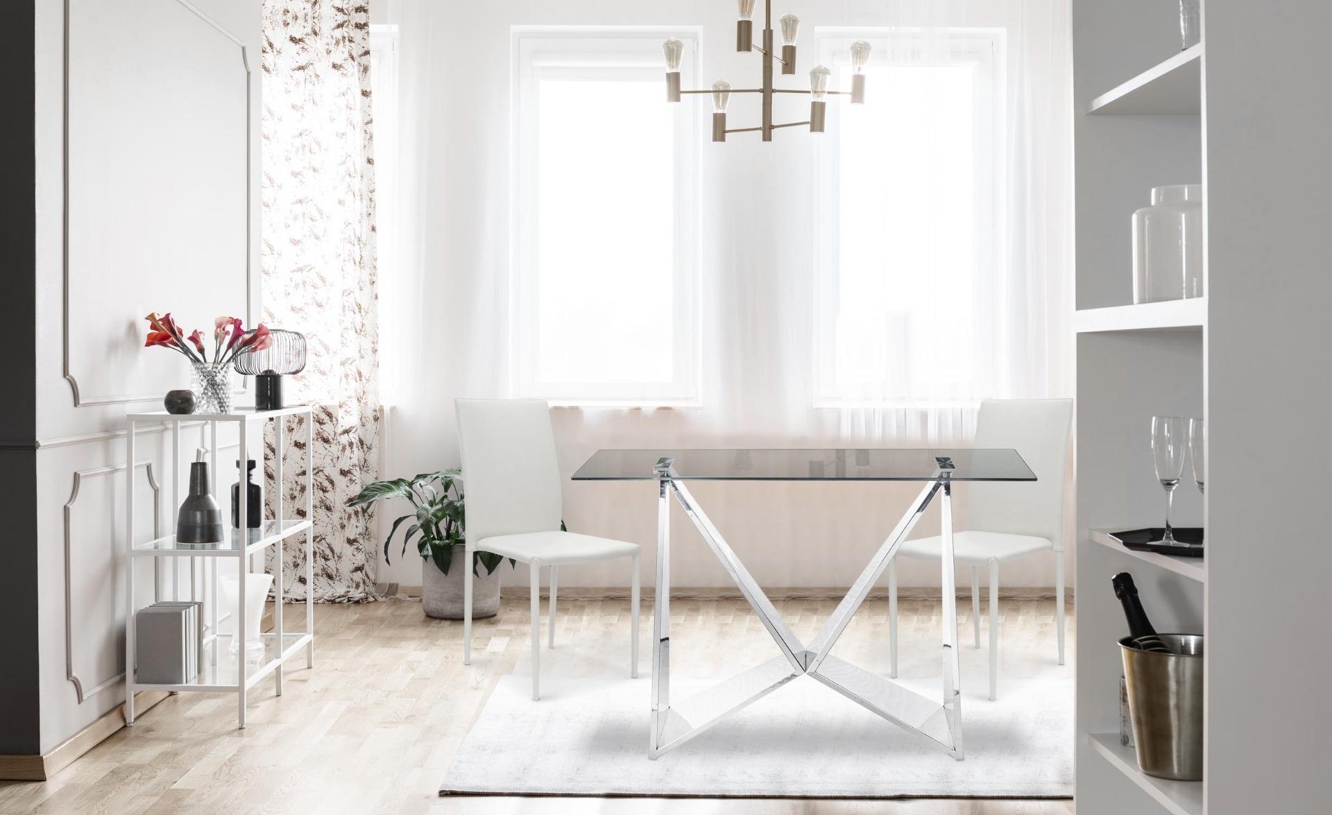 Set van 6 Modan Stapelbare Stoelen Simili (PU) Wit
