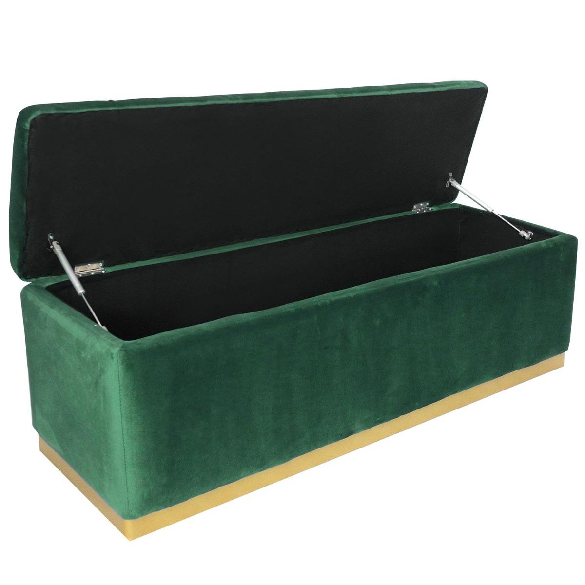 Borstbank Alexandrie Green Velvet Gold Foot