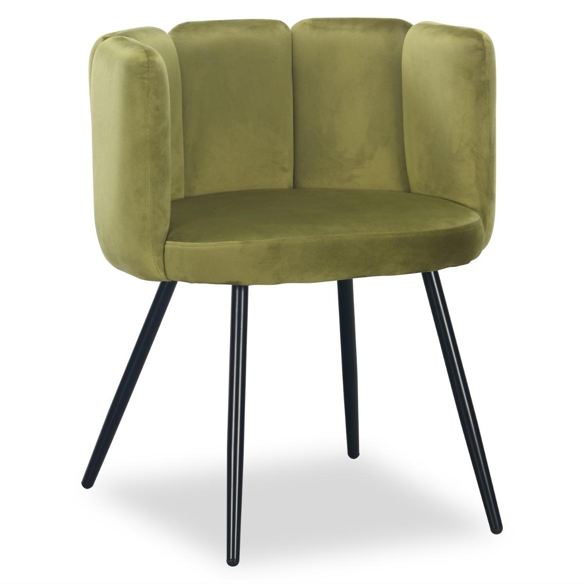 Set van 2 stoelen Amela Velvet Khaki