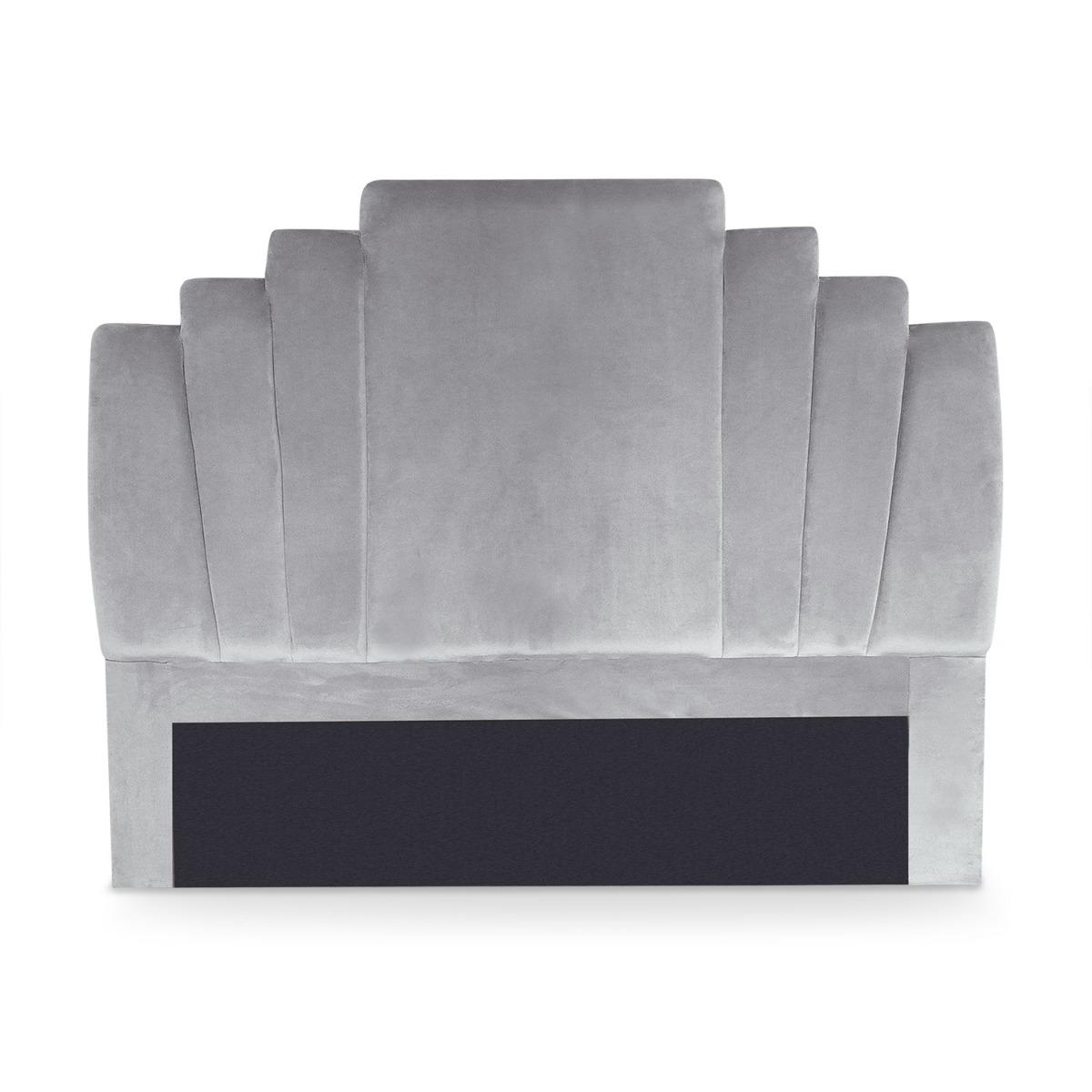 Tête de lit Arena 140 cm Velours Argent