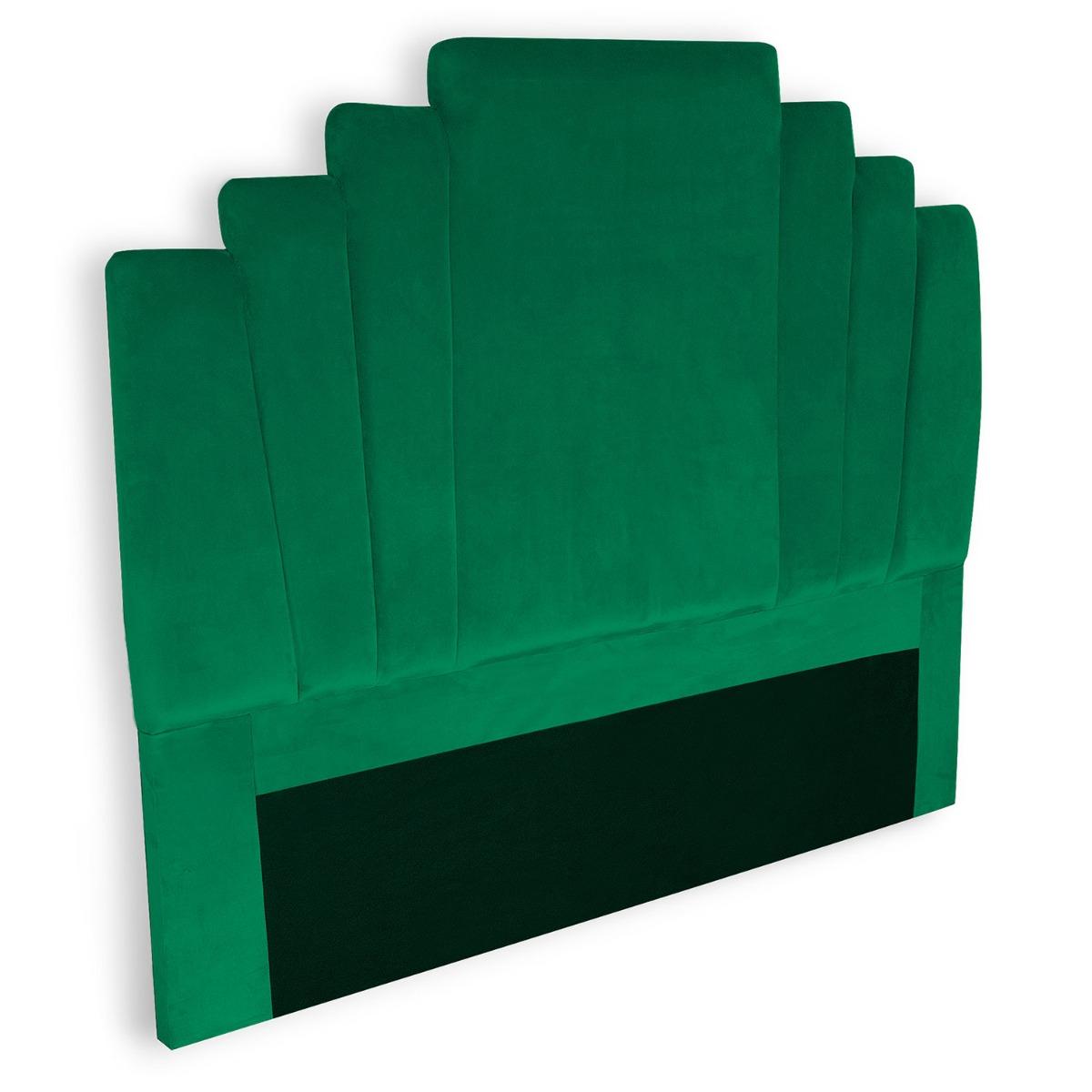 Arena hoofdeinde 140 cm groen fluweel