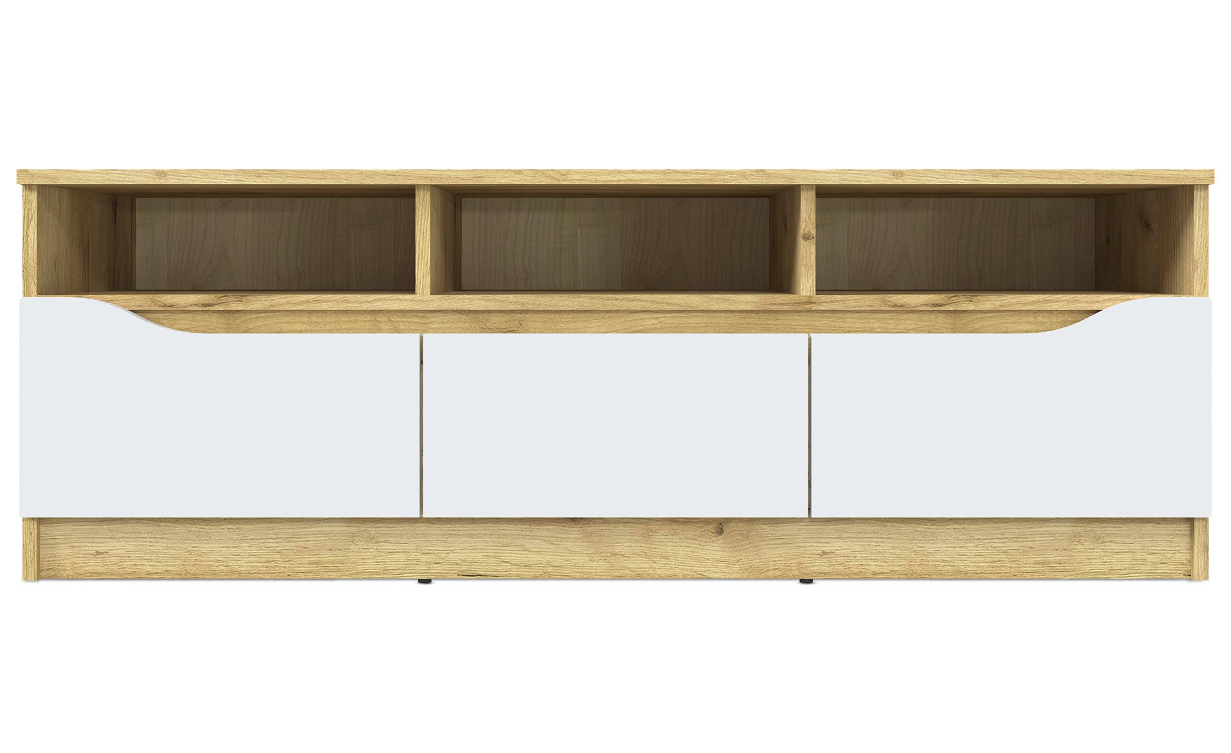 Artemias TV-meubel 130cm Eiken en Wit