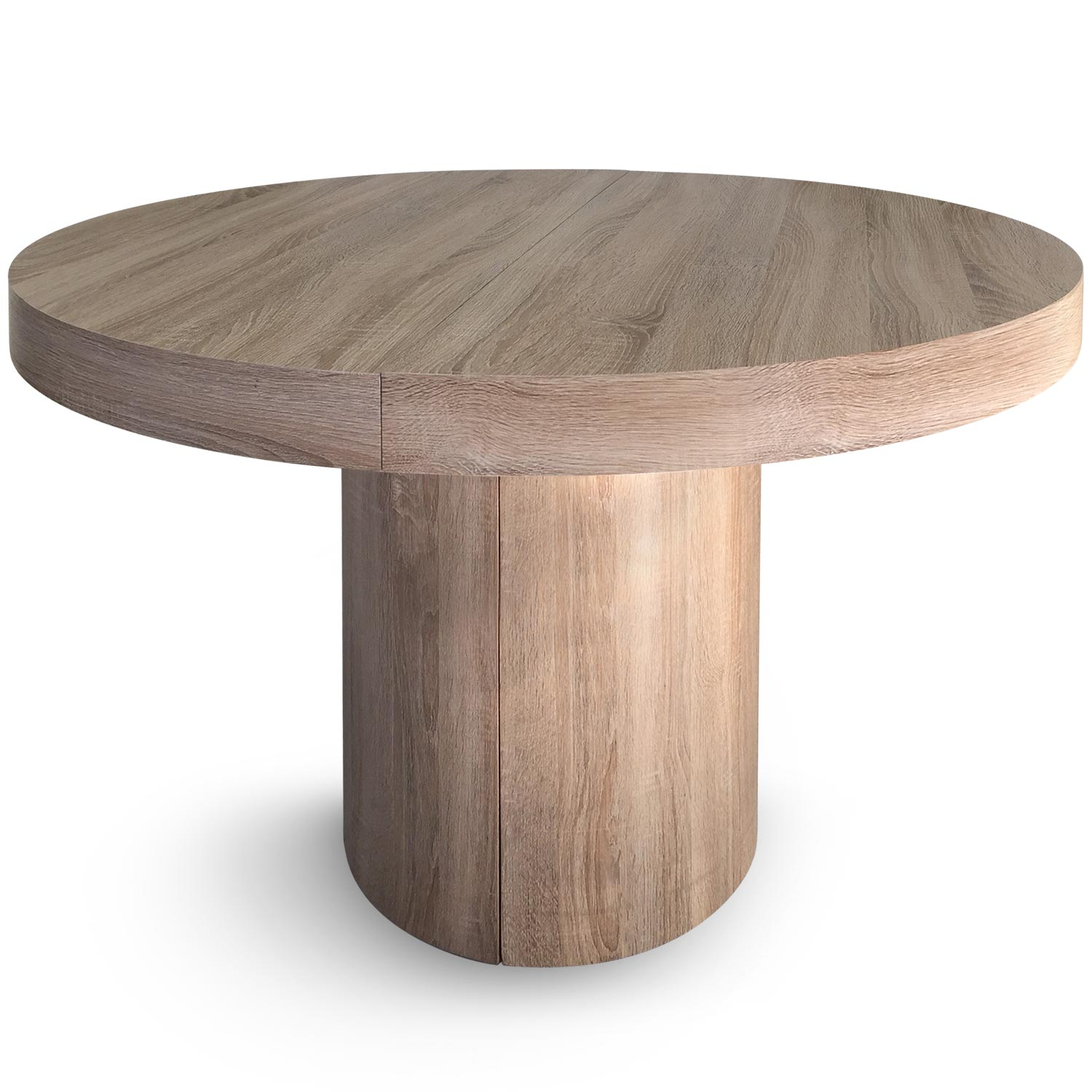 Table ronde extensible Suzie chene clair