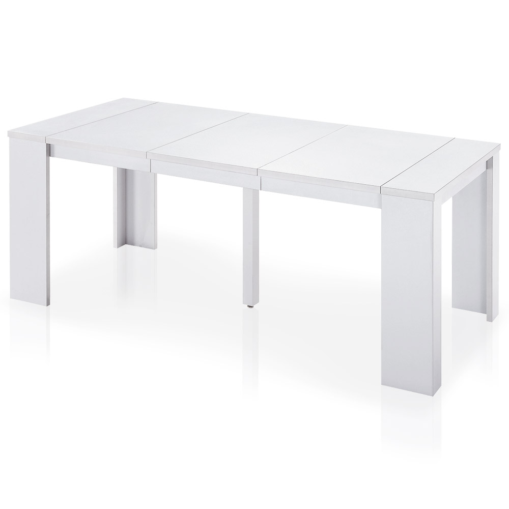 Table Console extensible Brookline Blanc