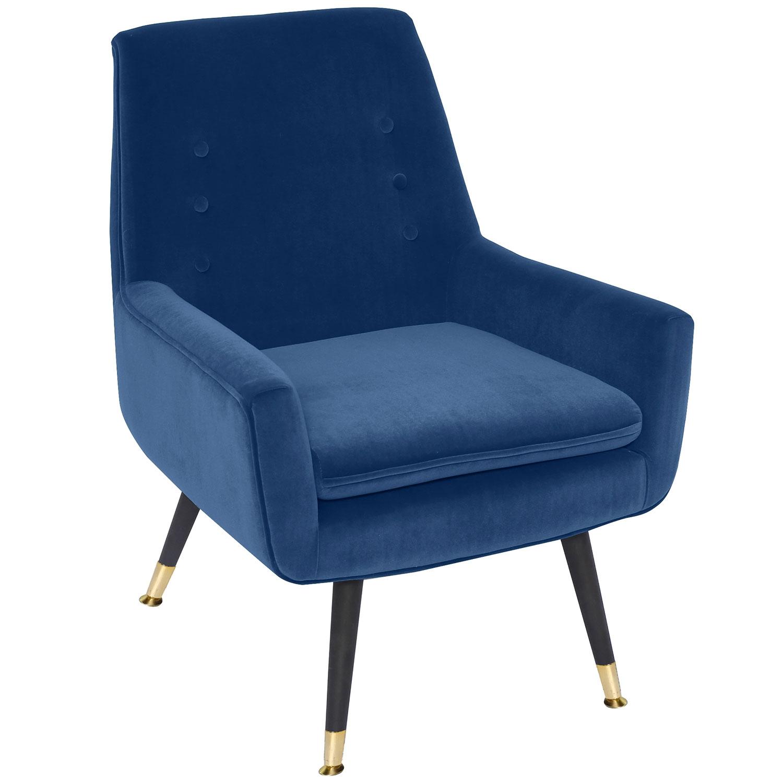 Fauteuil Ava Velours Bleu