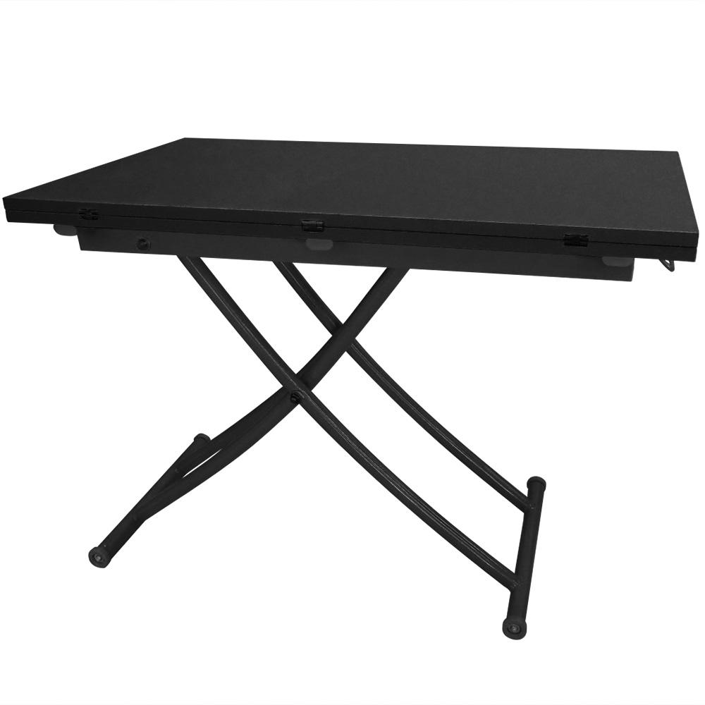 Carrera opklapbare salontafel mat zwart