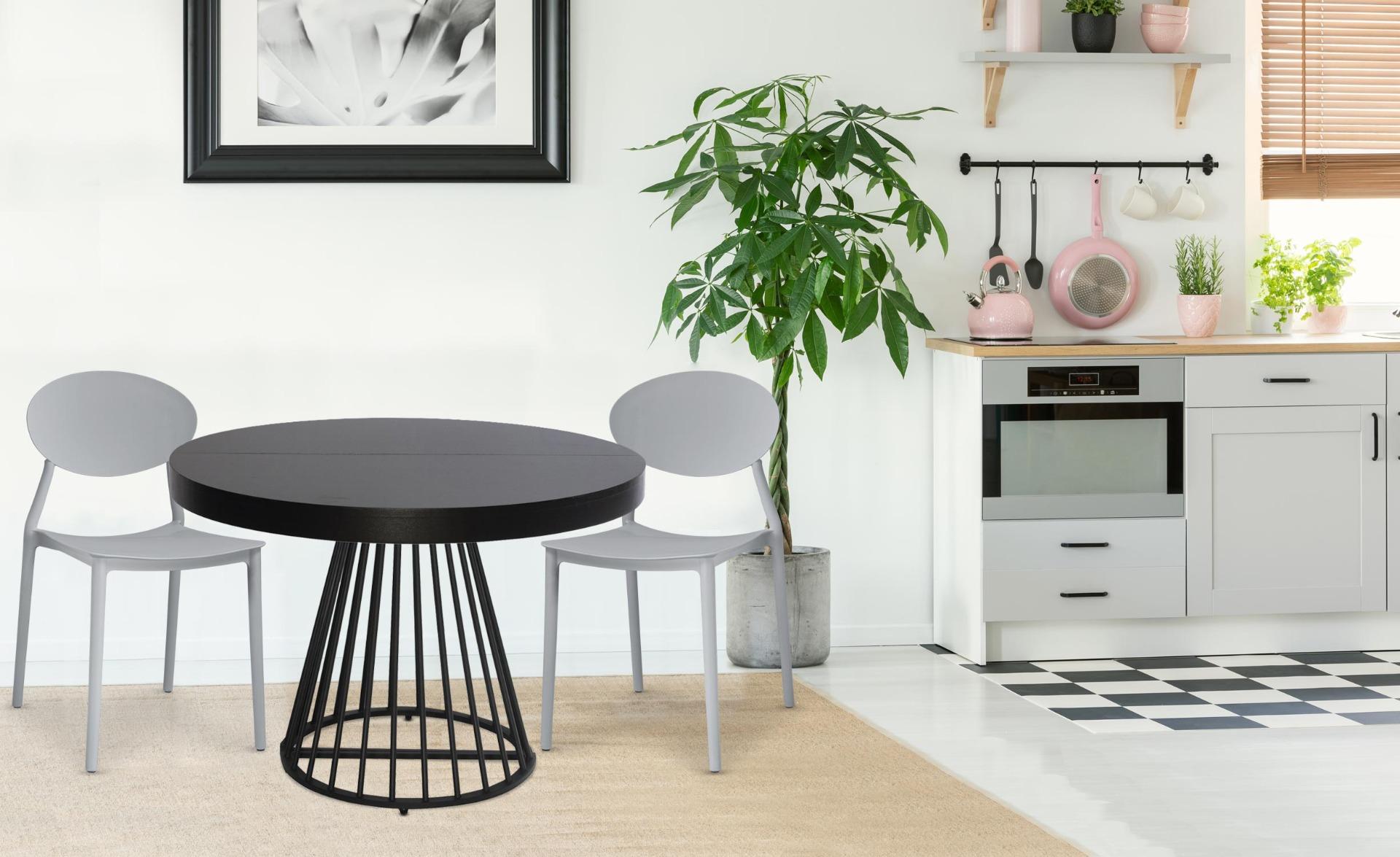 Set van 4 stapelbare stoelen Balagan Grijs