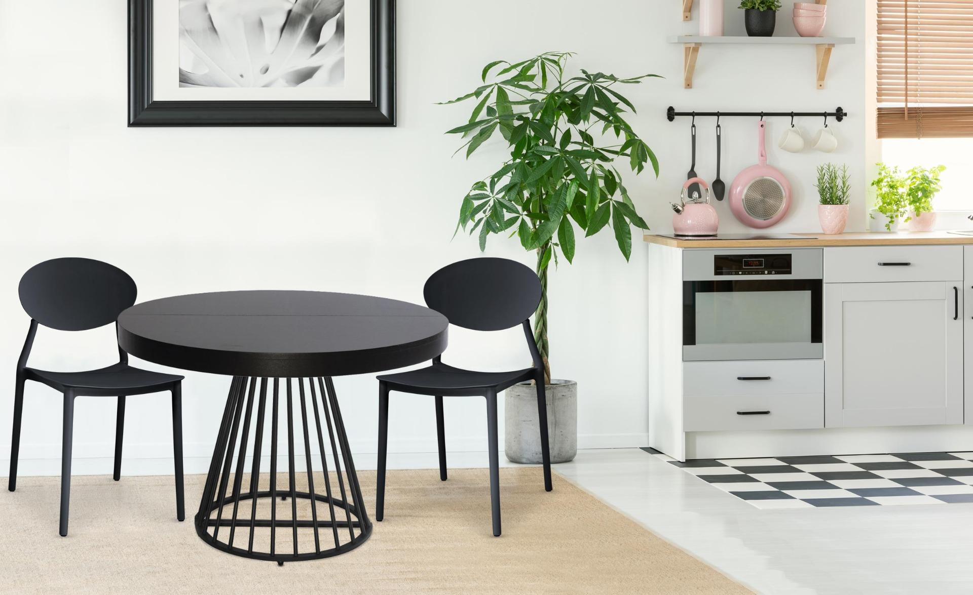 Set van 4 stapelbare stoelen Balagan Zwart