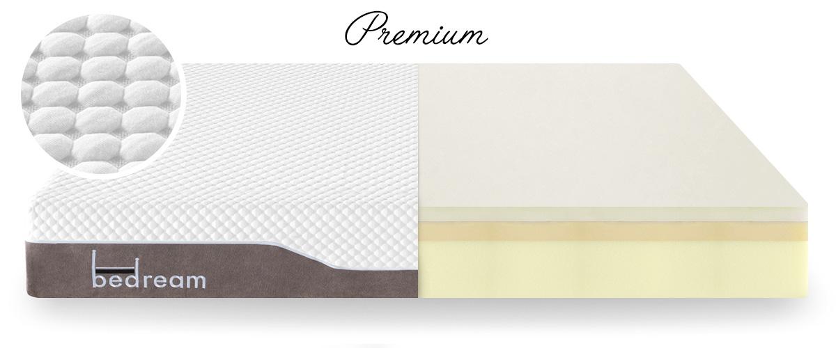Matelas mousse avec mémoire de forme Bedream Premium 140x190cm