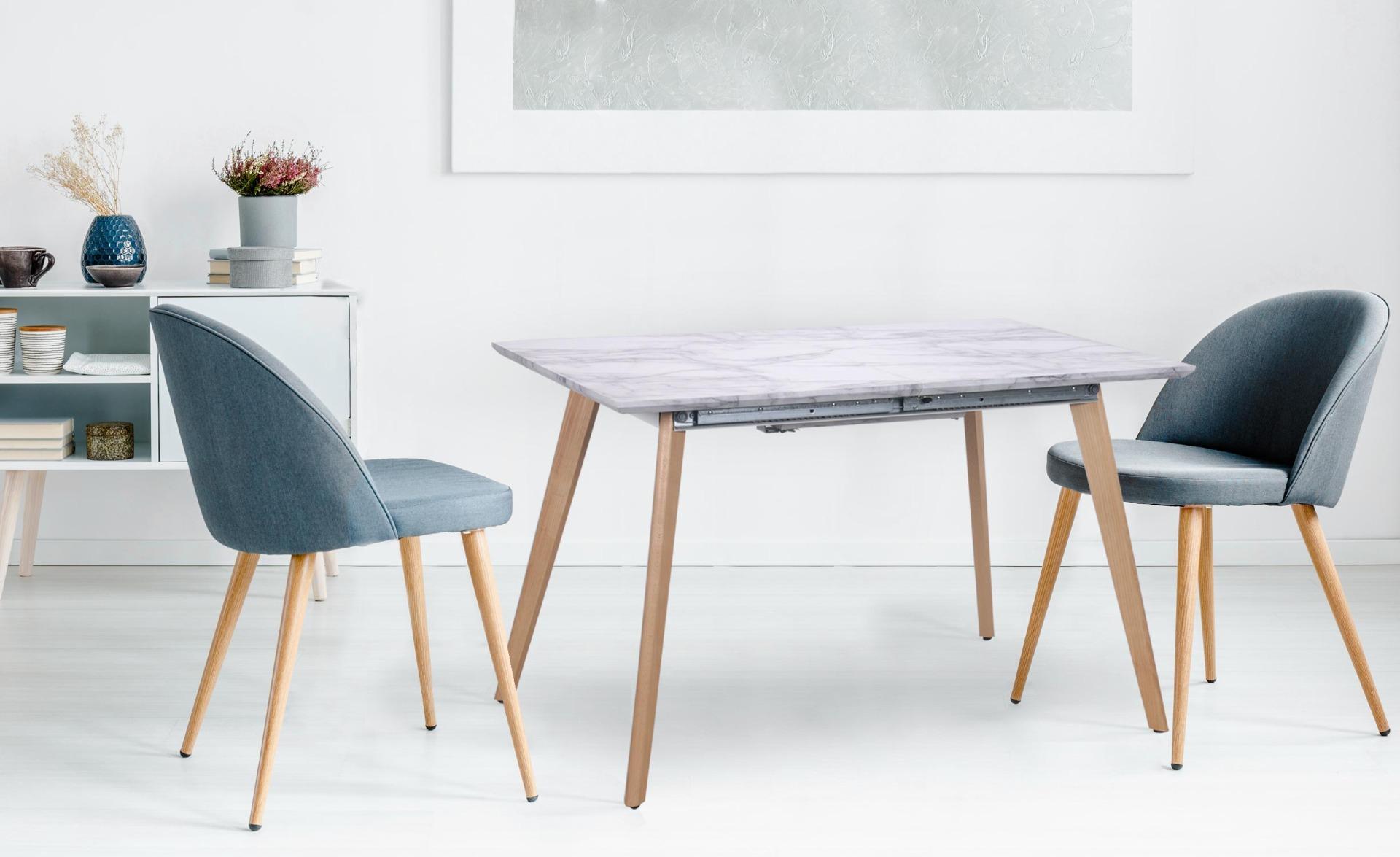 Uitschuifbare tafel in Bilbao-marmereffect