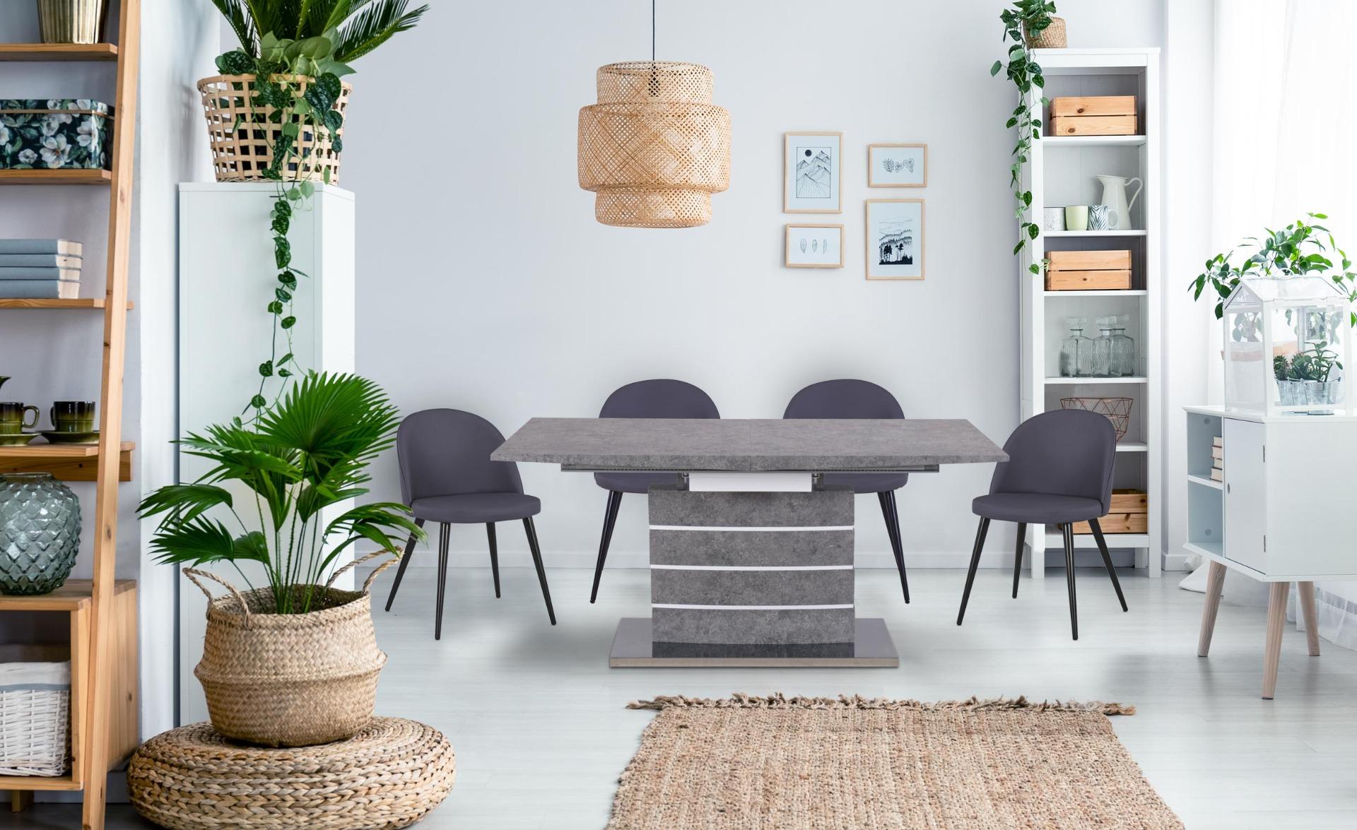 Bilma uitschuifbare tafel Betoneffect