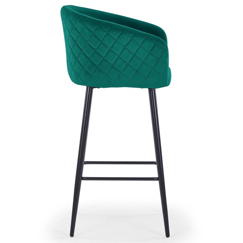 Bobby Velvet Bar stoel Groen