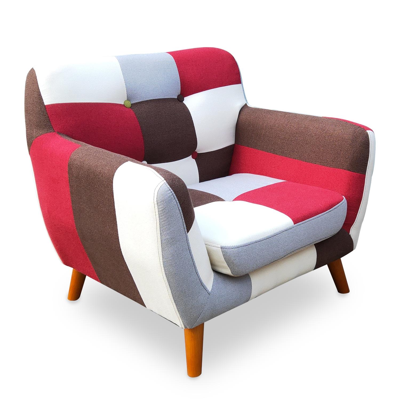 Scandinavische Bombay veelkleurige fauteuil