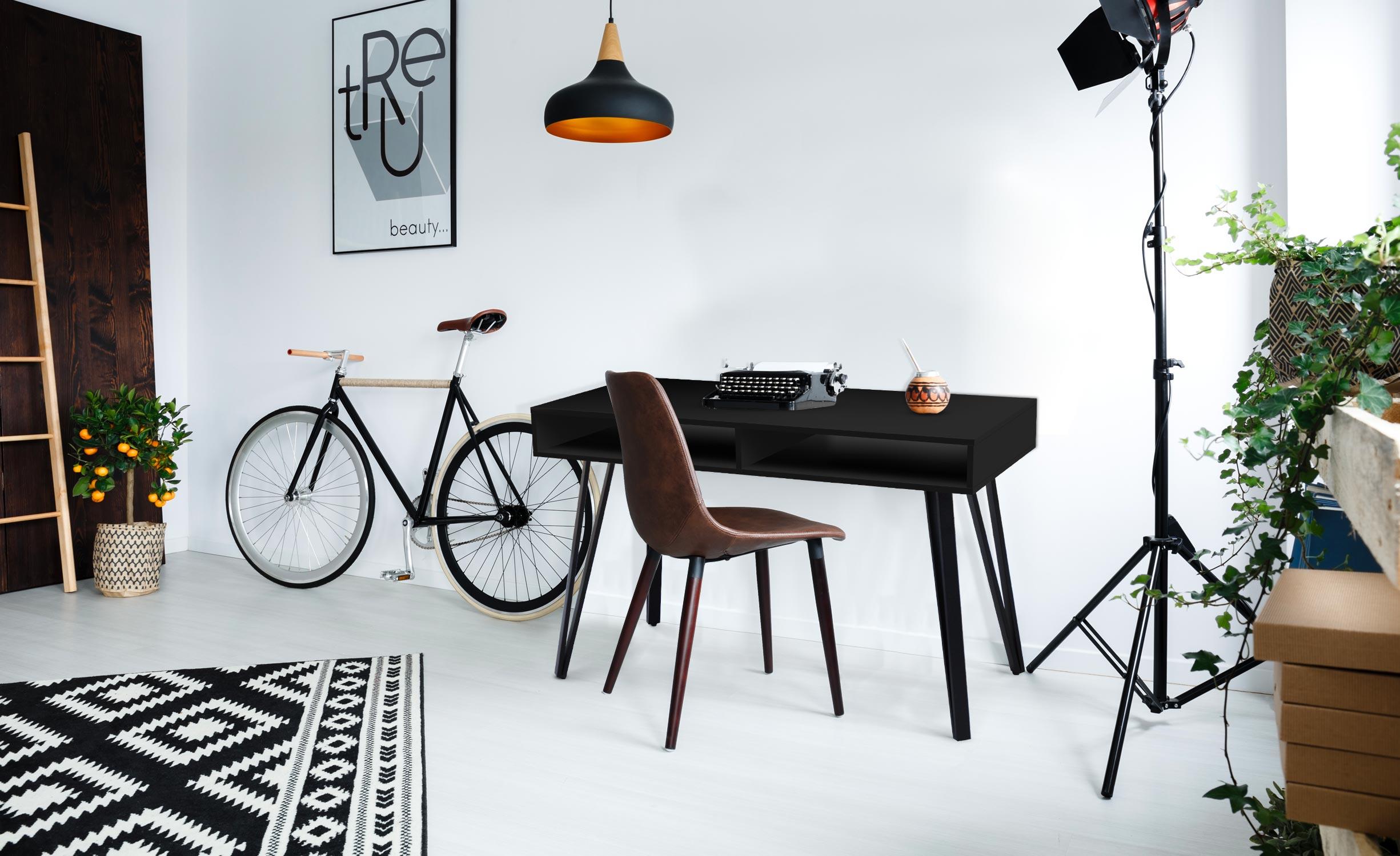 Riviera Bureau Mat zwart
