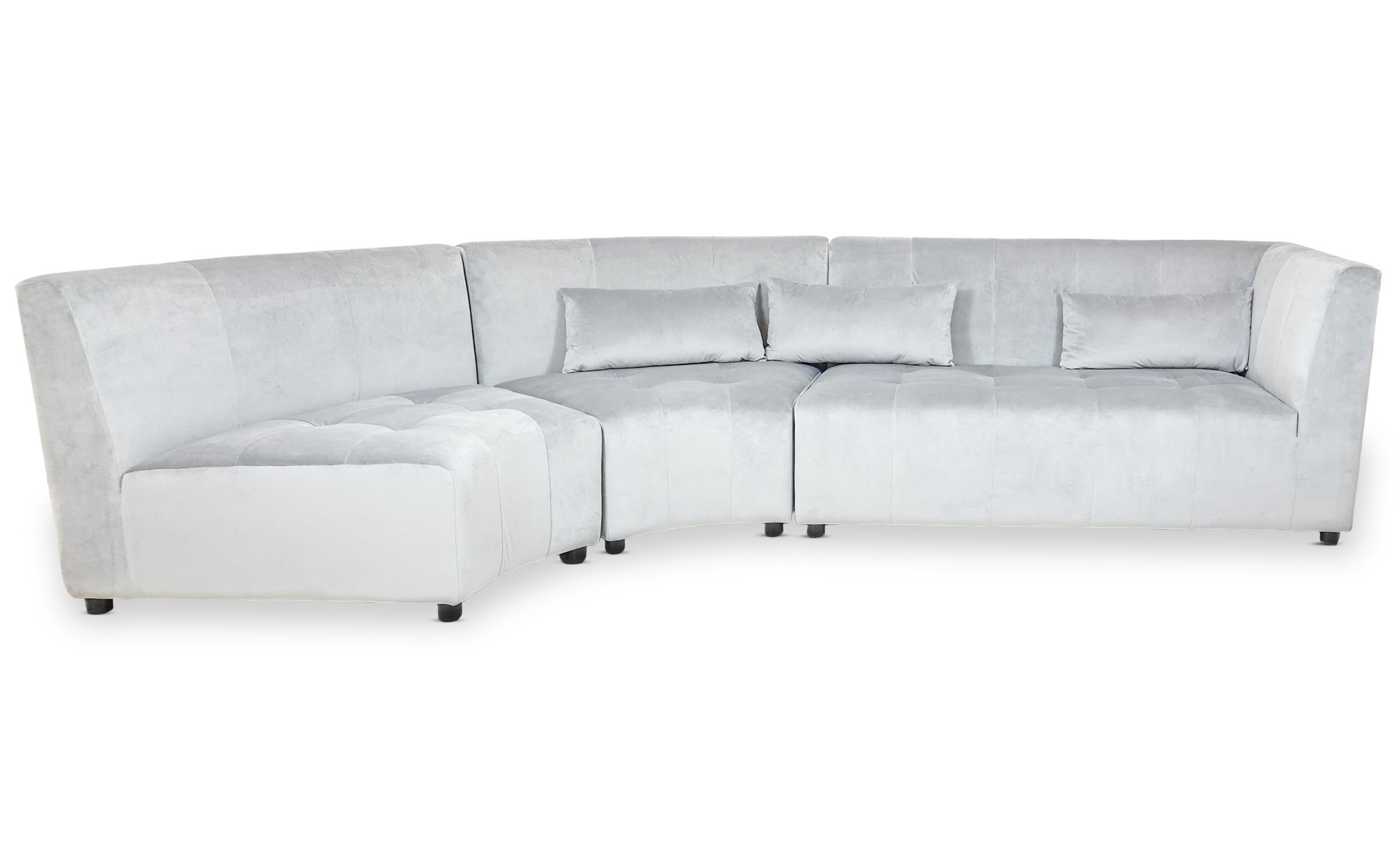 Canapé d'angle Dojo Velours Gris