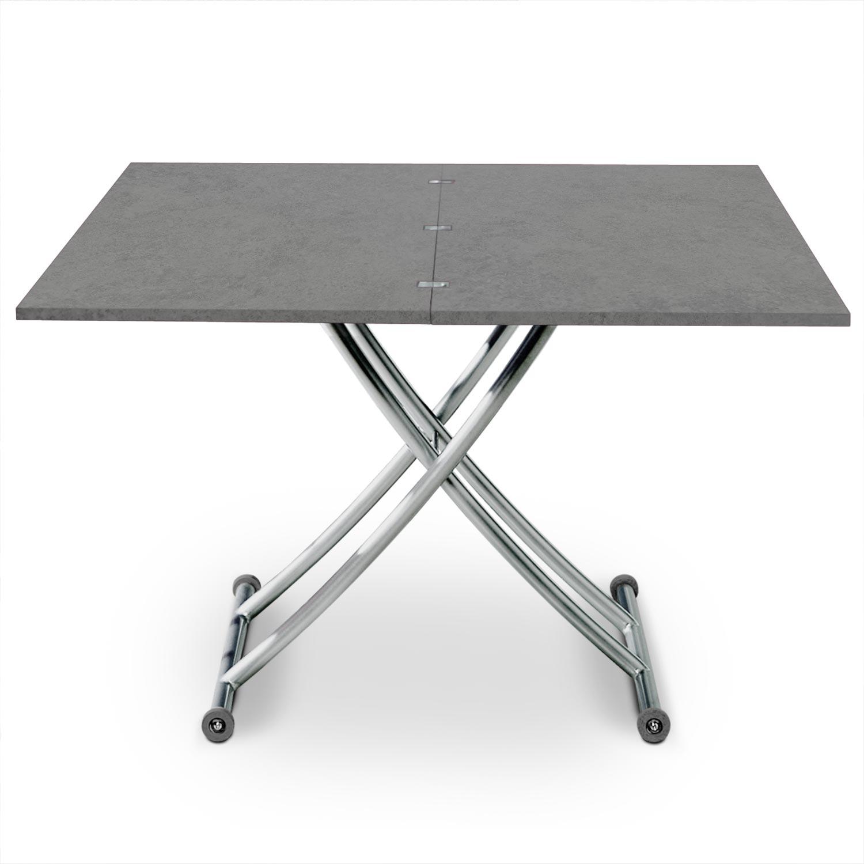 Opklapbare salontafel Carrera betoneffect
