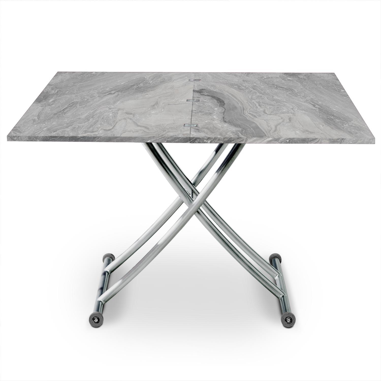 Opklapbare salontafel met Carrera-marmereffect
