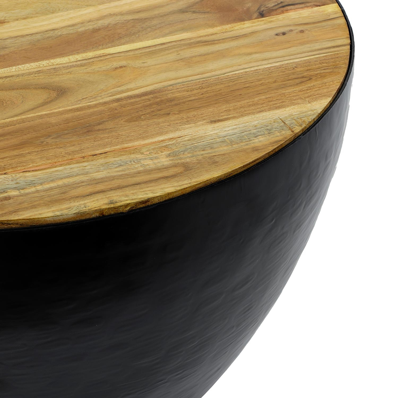 Chennai salontafel van zwart metaal en hout