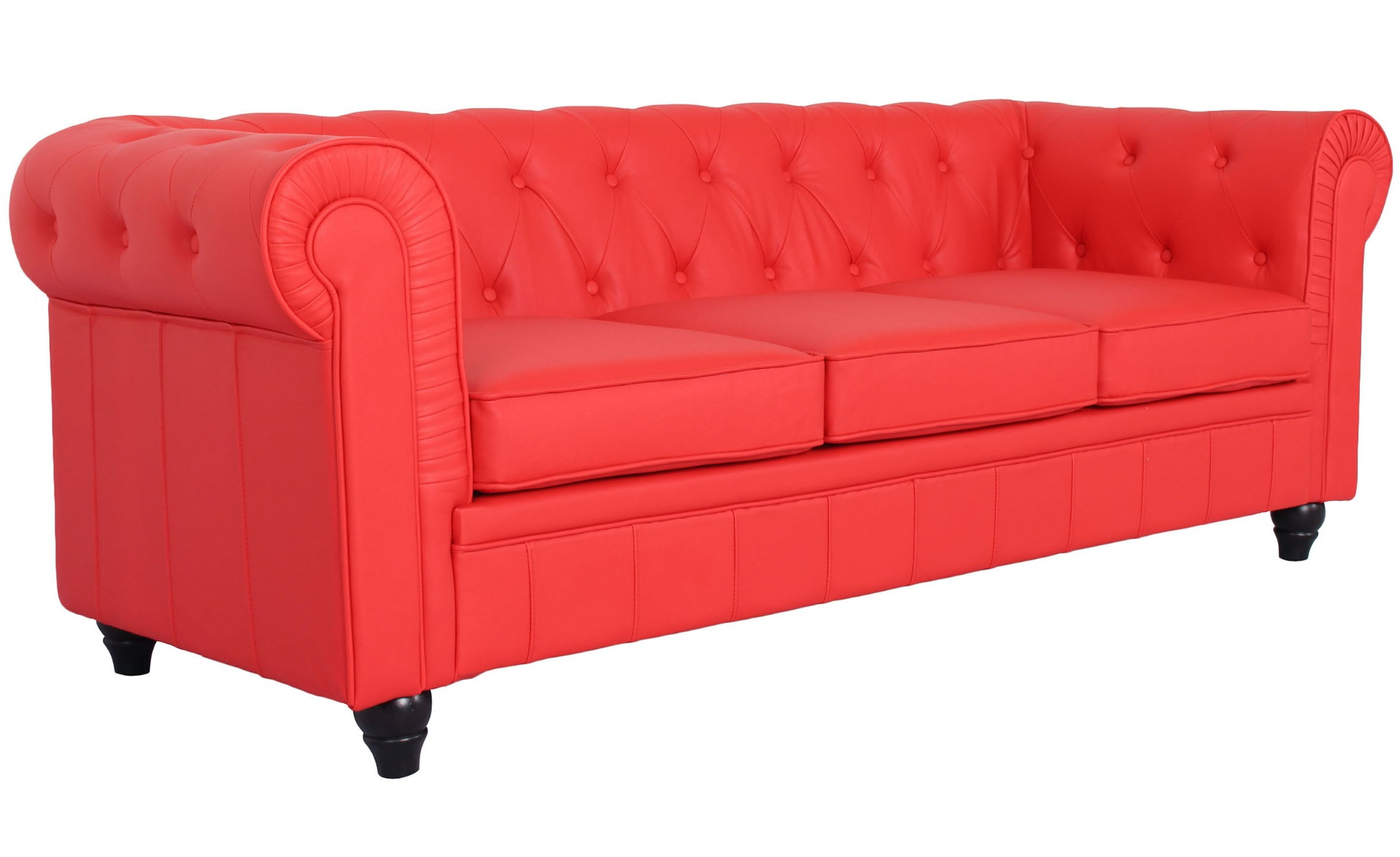 Grote Chesterfield Rood 3-zits bank