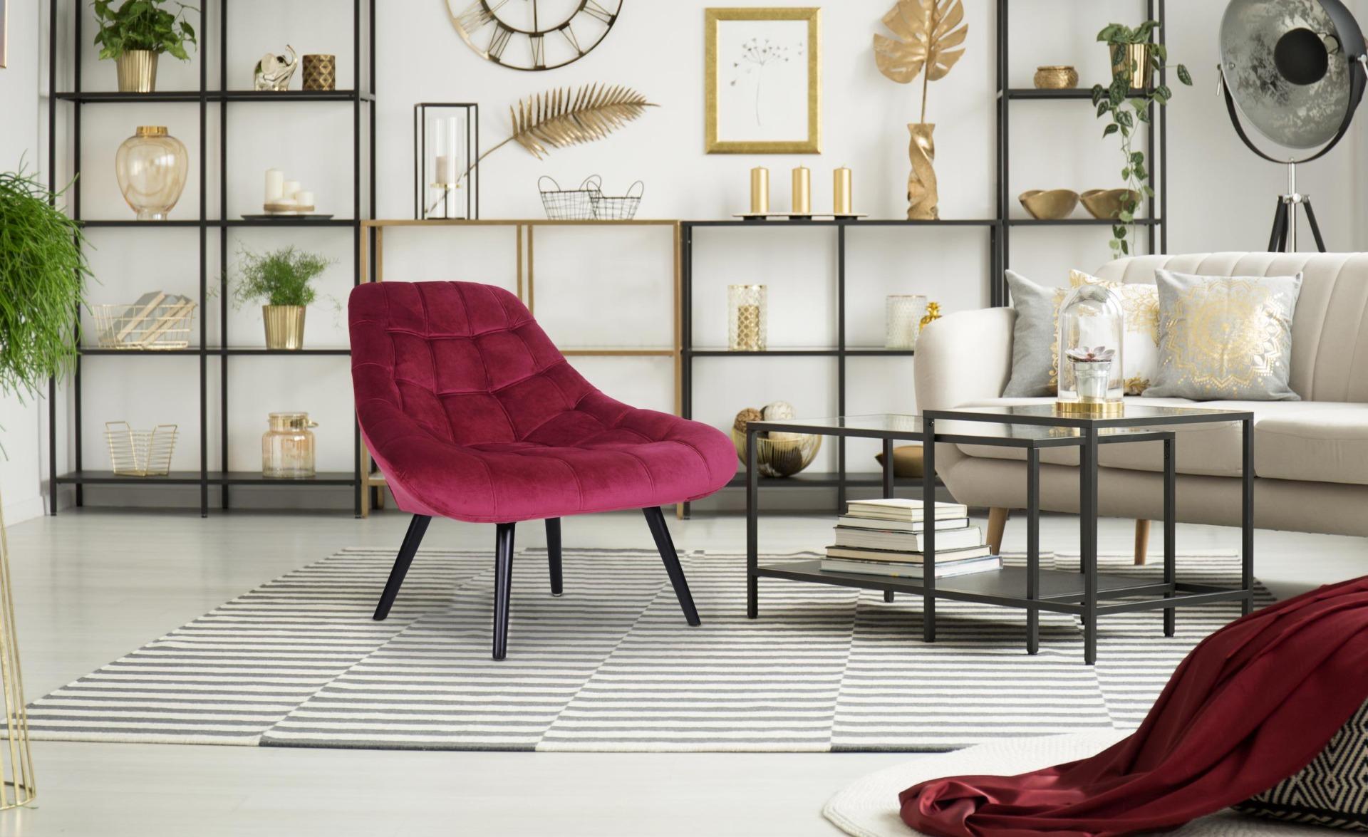 Set van 2 Danios roodfluwelen fauteuils