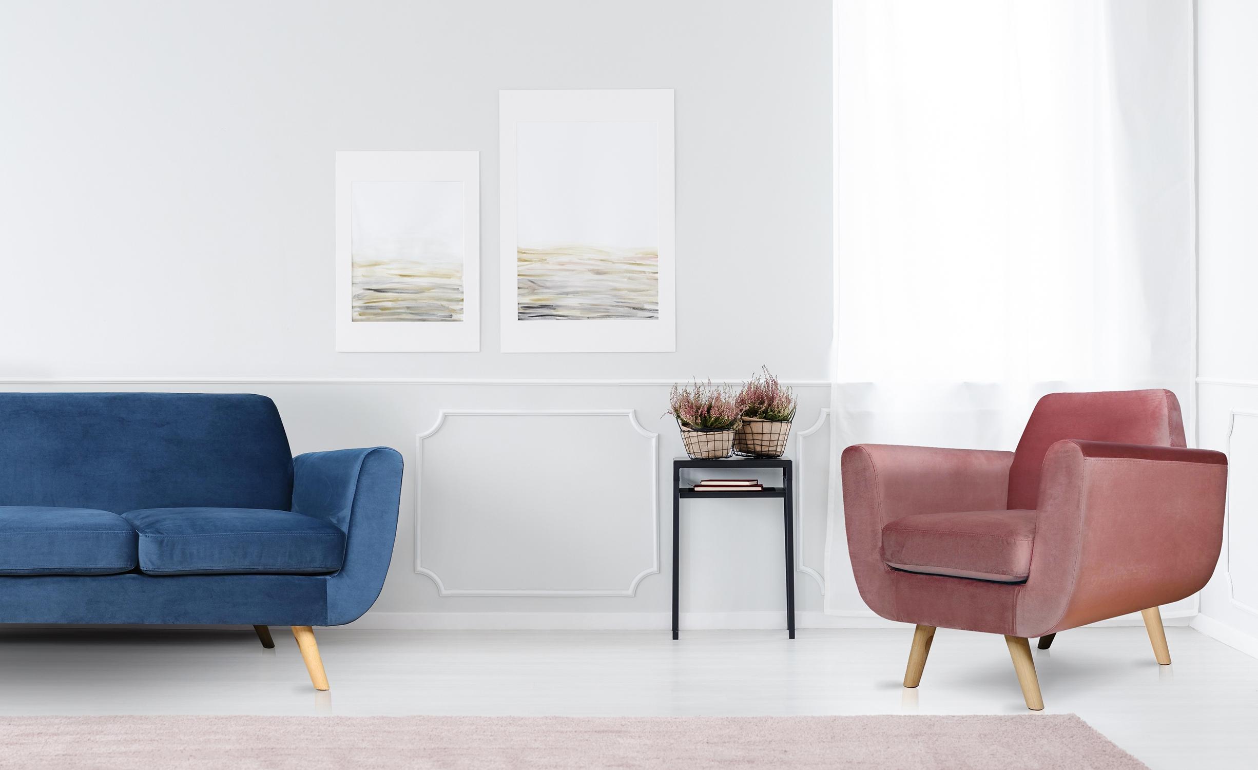 Scandinavische fauteuil Danube Velvet Roze