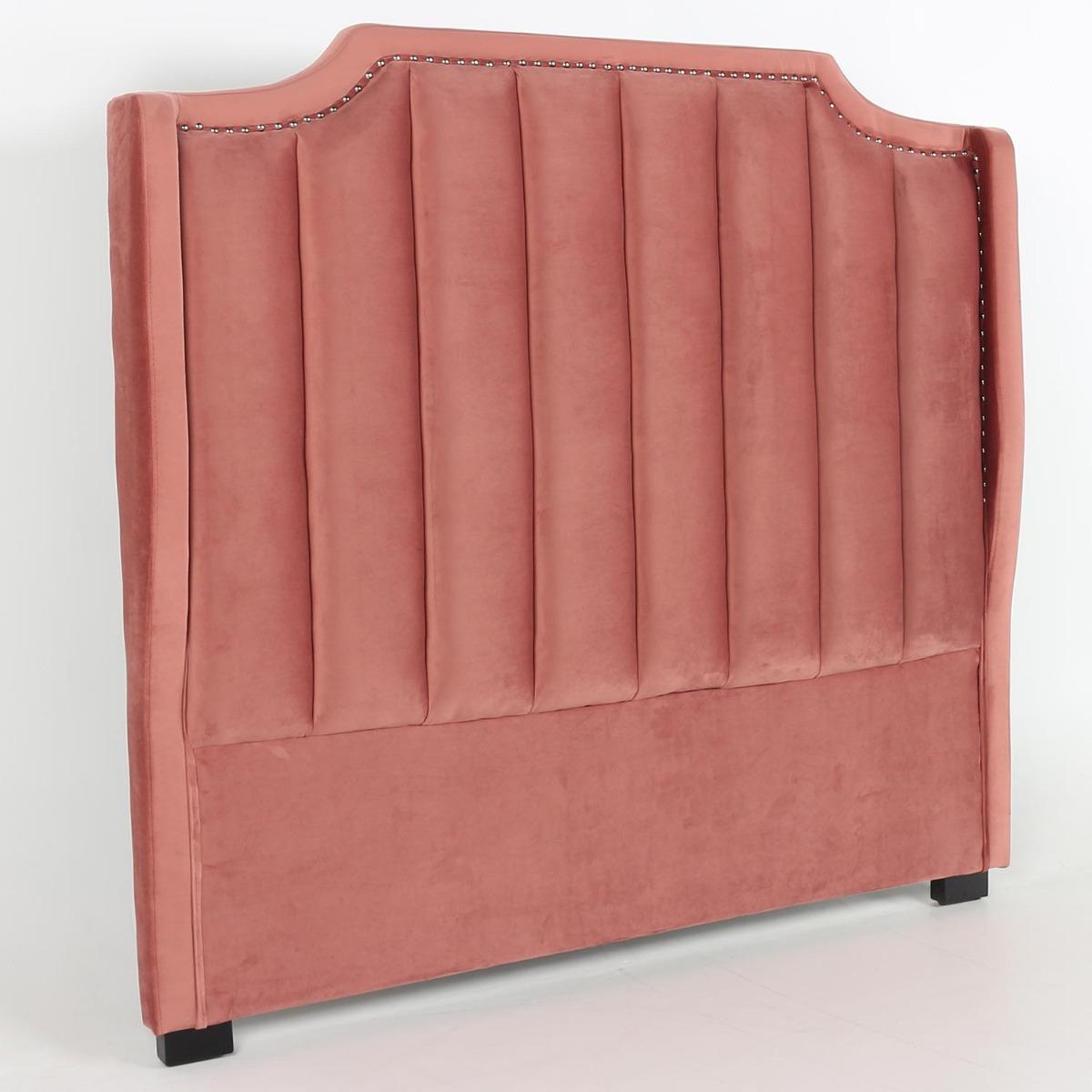 Dhora hoofdeinde 140 cm roze fluweel