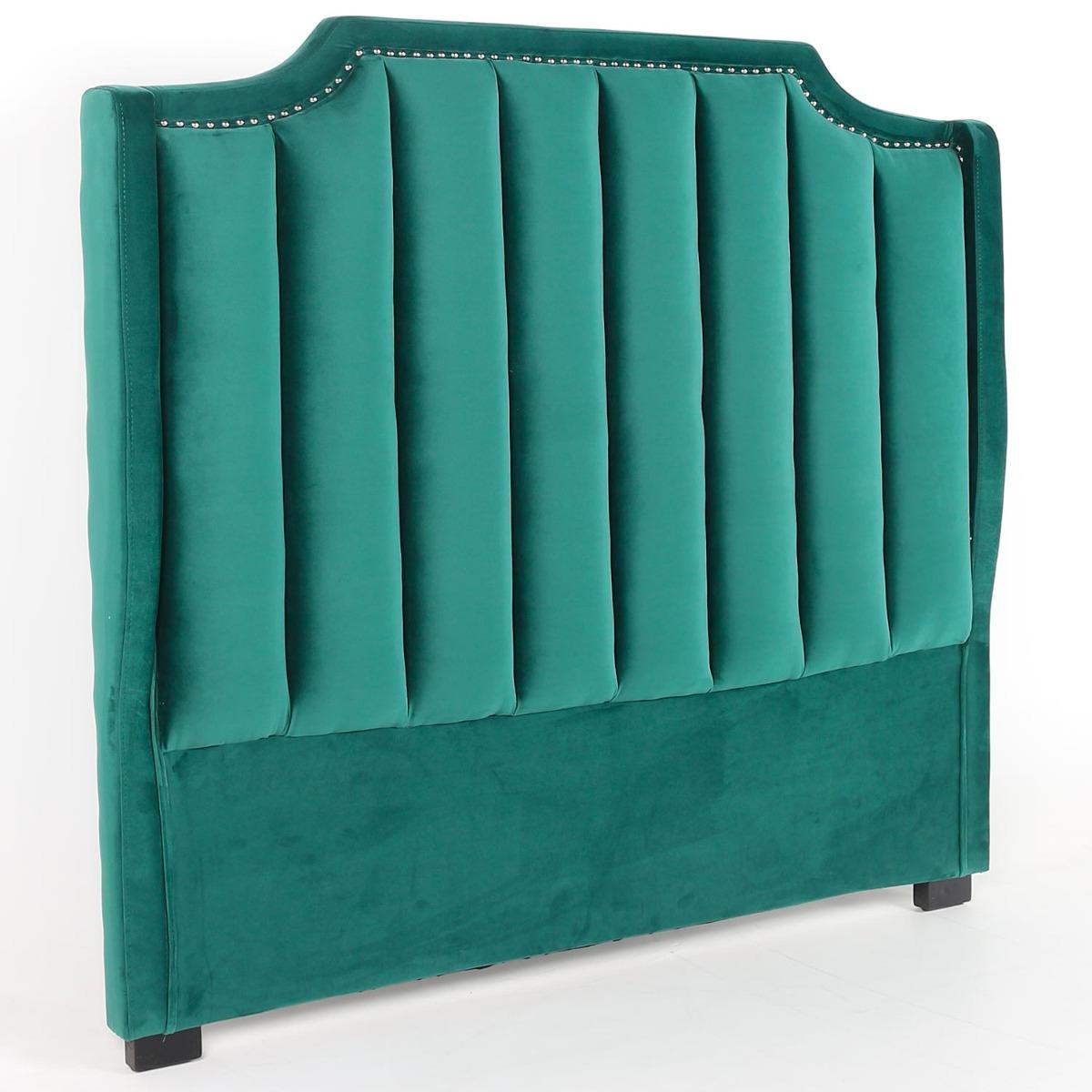 Dhora hoofdeinde 140 cm groen fluweel