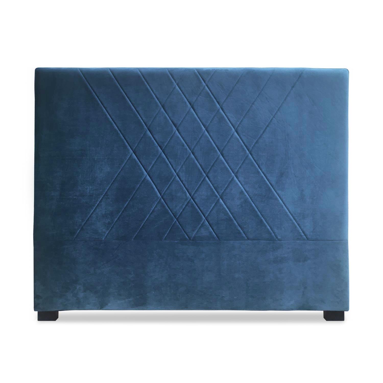 Tête de lit Diam 140cm Velours Bleu
