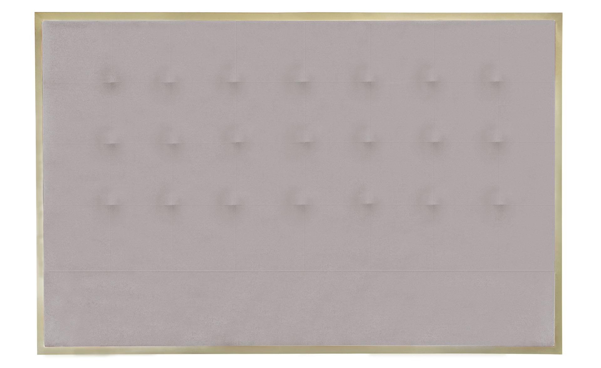 Tête de lit Donna 160 cm Métal Or et Tissu Beige
