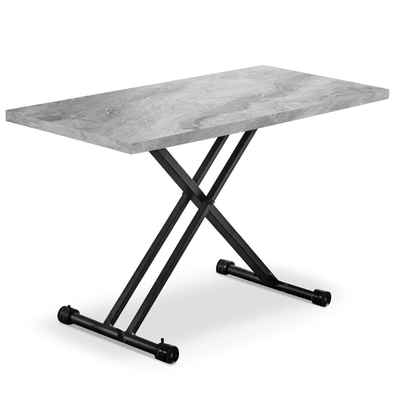 Duke Verhogbare salontafel met grijs marmereffect