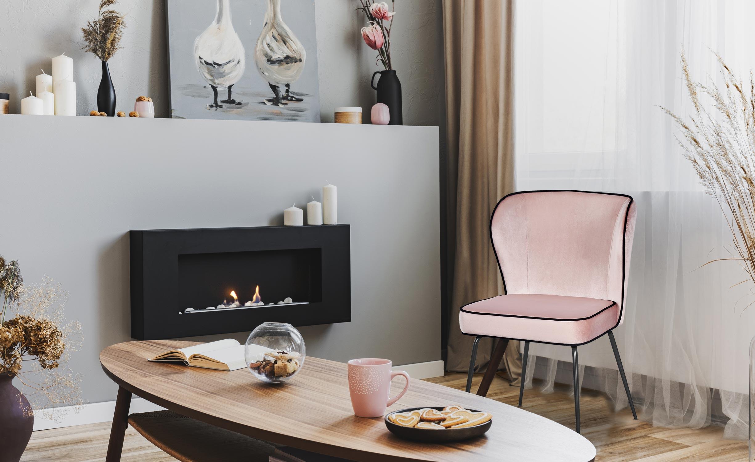 Set van 2 stoelen Elsa Velvet Pink
